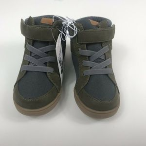 New Cat /& Jack Arthur Casual Sneakers Dark Green Toddler Boys Sizes 11 12